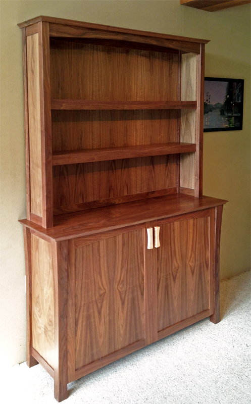 Brunswick hutch, shown in walnut
