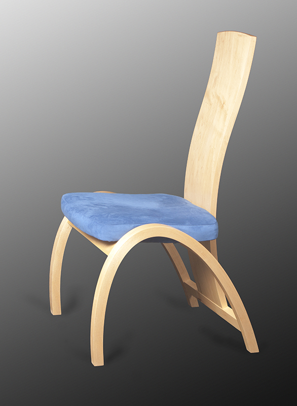 Dining chair, bent maple