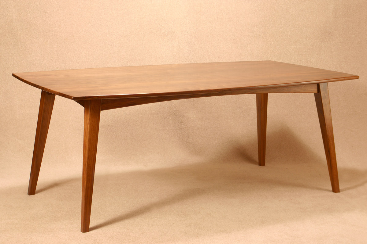 Franklin dining table, shown in walnut